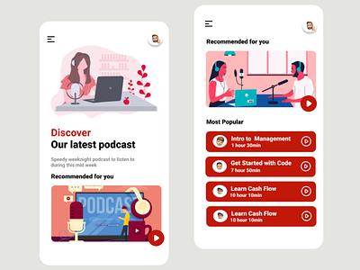 Podcast App Design mobile ui design ui design podcast ui