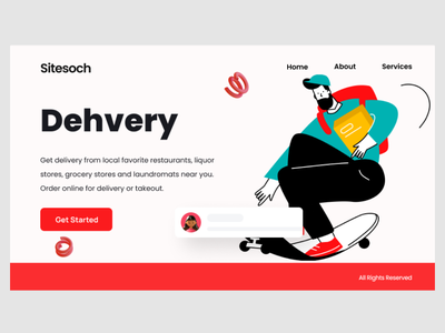 Delivery landing page web ui delivery