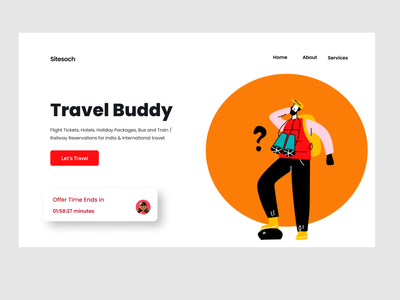 Travel Design illustration typography design logo vector landing page travel