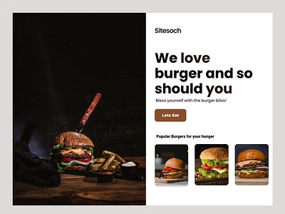 Burger Landing Page typography food burger ui landing page