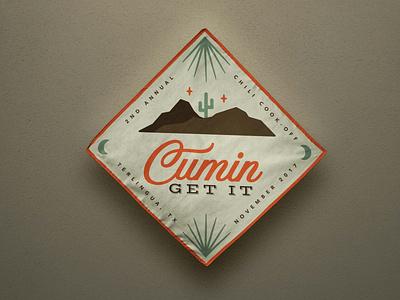 Terlingua: International Chili Cook-Off koozie bandana branding