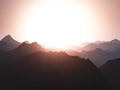 Sunrise mountains sunset madewithunity unity