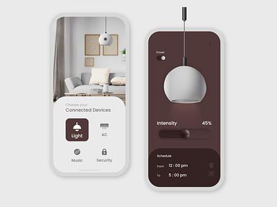Smart Home App flat app ux ui branding illustration design