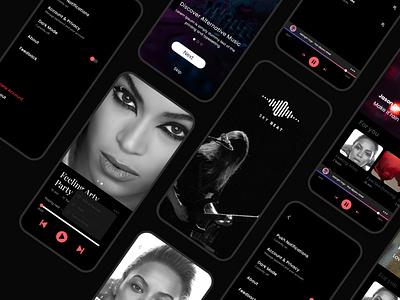 Music App clean classy design music player ui elegant music app playlist easy music player music app web ux ui illustration design app