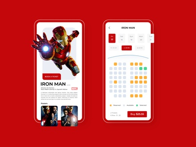 Movie Tickets App ticket movie app movie ux ui design app