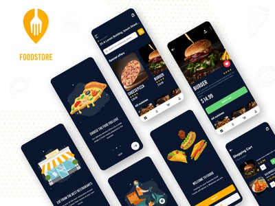 Food Store App food delivery food delivery service food delivery app foodie food illustration food app food and drink design restaurant delivery store food ui ux app