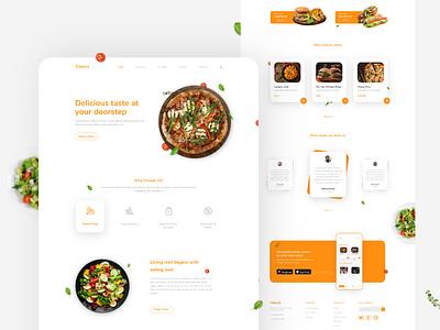 Food Webpage design food webpage food web design restaurant landingpage website webdesign ux ui food website food