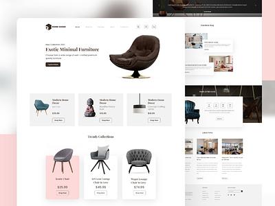 Furniture Webpage Design webdesign ui ux design architecture web website design web design interior furniture
