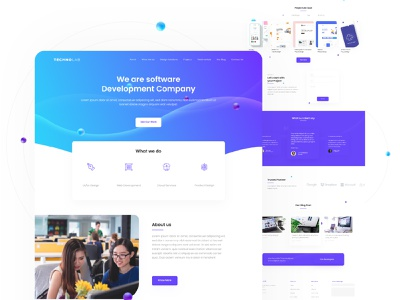 IT Company Landing page | Concept landing page design clean webdesign design website it services it company landing page ui concept design landing page