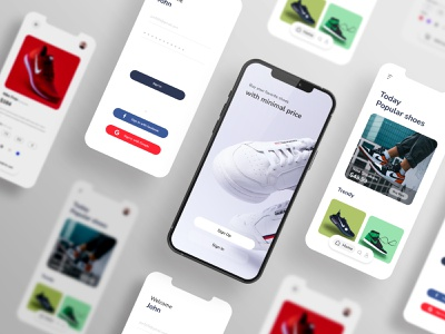 Shoes E commerce app concept productdesign app concept app design shoes e commerce app e commerce shoes app shoes store ux design ui