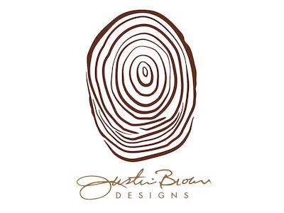 Justin Brown Designs tradesman finger print thumbprint woodworking branding logos logo