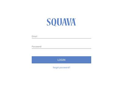 Redesigning the Squava login screen web login angular css html