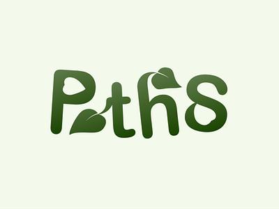 Pothos Logo type design logodesign vector design brand logotype illustrator pothos plant type logo design logo