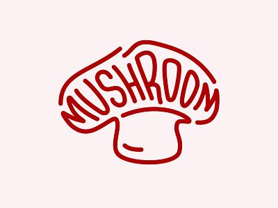 Mushroom Logo plant mushroom branding type brand vector logotype logo design illustrator design logo