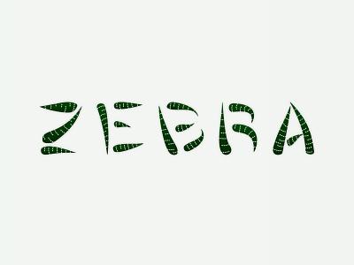 Zebra Succulent Logo logotype vector plant branding logo design illustrator design type logo brand