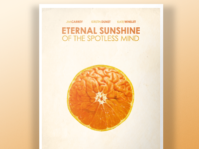 Eternal Sunshine of the Spotless Mind Poster poster movie orange movie poster