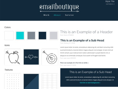 Emailboutique styletiles project web