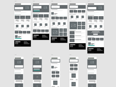 Email Wireframes wireframes email design