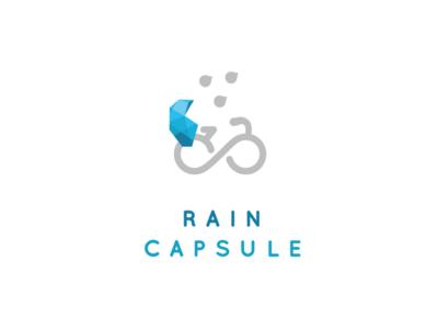 Raincapsule logo protect rain identity icon logo