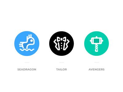 Logos for 3 teams cross-functional badge logo teams