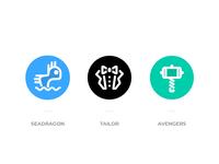 Logos for 3 teams