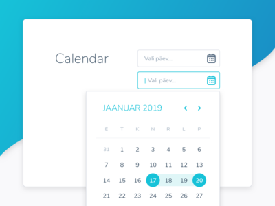 A sample of a calendar from the style guide divorce parents input calendar style guide design ui