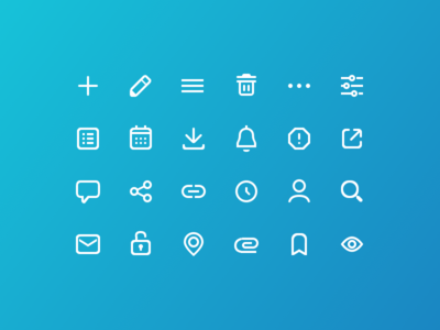A sample of icons from the style guide divorce parents iconography icon design ui