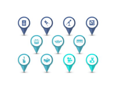 Map icons for Rentmarket app