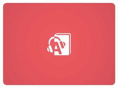 A-raamat logo [Audio books] headphones books audio vector logo branding