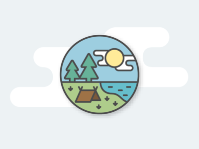 Camping icon illustration nature vector icon camping