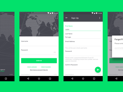 Sign-Up Flow registration ui ux mobile android material flow up sign
