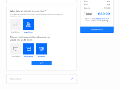 Booking Engine (WIP) tasks pricing company cleaning iconography wip engine booking