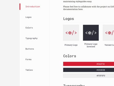 Styleguide [WIP] logo malta sideproject wip styleguide