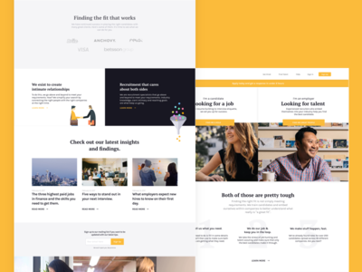 Homepage for a Recruitment Agency 👔  💼 recruitment homepage employer employee hiring culture