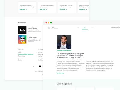 Portfolio Rebuild again redesign portfolio