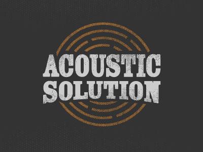 Acoustic Solution maze acoustic solution band logo