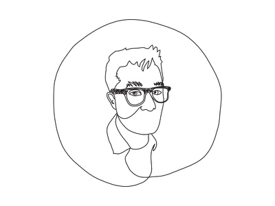self portrait drawing one color black and white implied line line drawings line drawing glasses head portrait self portrait