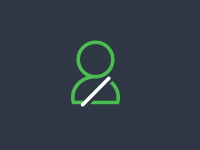 Driver Safety outline green man illustration icon person safe driving driver safety seatbelt