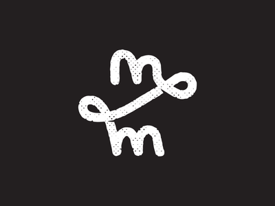 mm texture illustration logotype m mark symbol branding handrawn logo logo mm