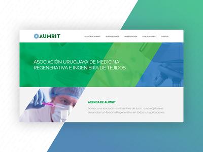 Medical Association - Website Header & Hero web design layout web ui header institutional medical website hero section hero