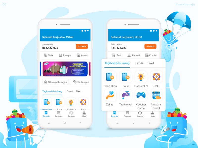 Blibli Mitra - Homepage & Digital Products app website design flat web icon ux ui