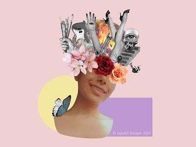 dark-head collage collages illustration collageart design collage art collage