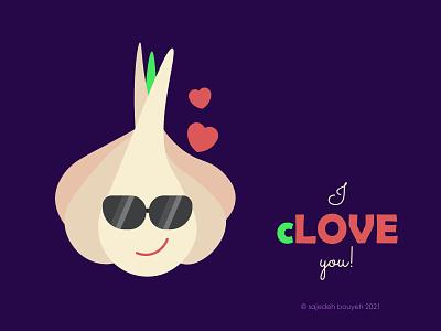 lover garlic love illustrator funny comics comic 7sin haftsin garlic flat flat illustration flat design flatdesign illustration design