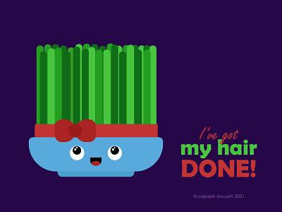 hair DONE haftsin hair plant grass sabze comics comic 7sin illustrator flat illustration flat design flatdesign flat illustration design
