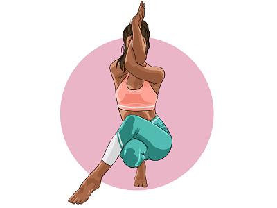 Yoga Pose 2 digital drawing digital art digital painting yoga app yoga illustration yoga pose yoga graphic design illustrator illustration