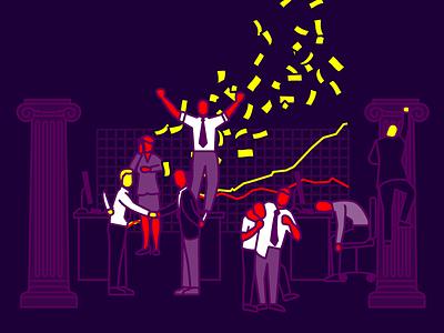 Casino capitalism stock stocks capitalist capitalism occupy finance money banker wallstreet pictogram isotype
