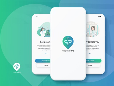 Health care mobile app design web graphic design typography website app design branding ux ui