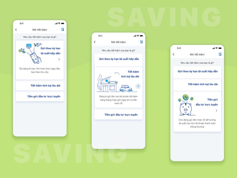 Saving features acb ui saving banking app
