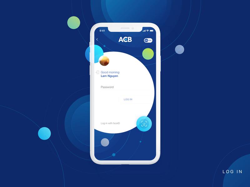 Banking Login app design fintech finances ux ui banking app acb