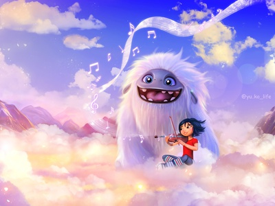 Abominable abominable illustration art fan fanart character illustration drawing cartoon character artwork cartoon artist